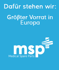 Gröβter Vorrat in Europa | Medical Spare Parts